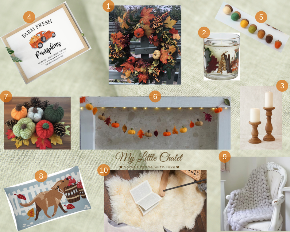 Autumn inspiration mood board