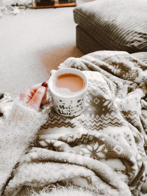 cosy blanket and drink