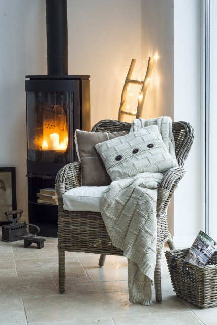Cosy fireplace setting